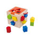 Pull Toy Kids Geometric Pull Along Wooden Educational Toy Shape Sorter Cube Game For Toddler