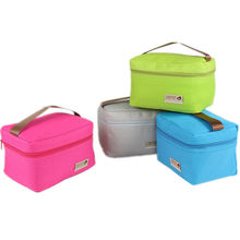 custom polyester small cooler tote bag portable waterproof lunch picnic box bag
