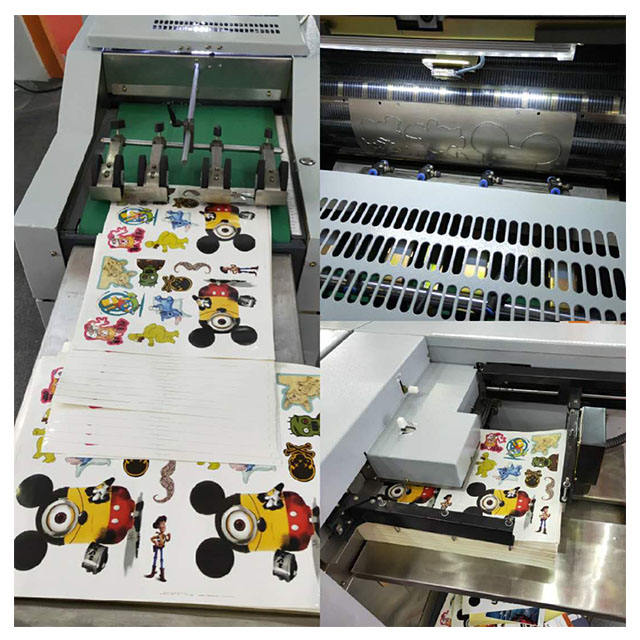 Dapeng 4055 die cutting machine for stickers rotary blade paper roll cutting machine die cutter for paper creasing/ kiss cutting