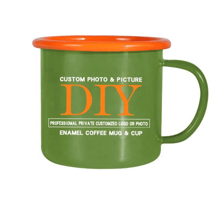 An American company Enamel Metal Outdoor Camping Coffee Mug Tin Cup 3 Pack 16 oz.
