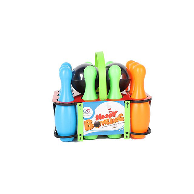 Kids bowling ball toy set sport toy bowling ball 10pcs with 2 ball funny playing set for children gift