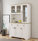 home furniture classical cupboard storage cabinet with glass door with wood frame