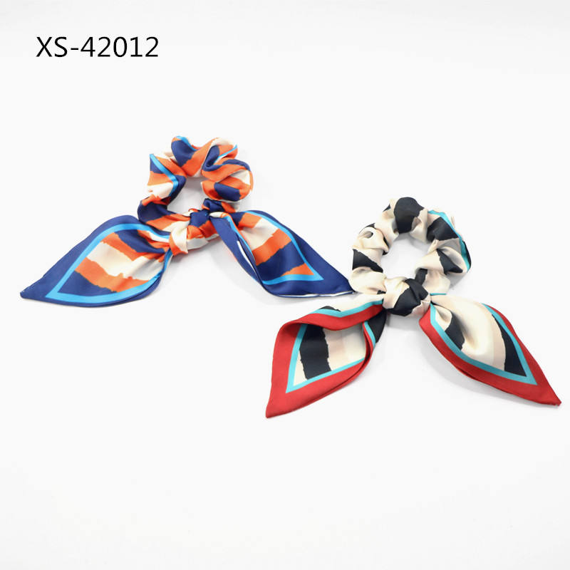 Hair Scrunchies Elastic Hair Bands Scrunchy Hair Ties Accessories for Women or Girls Rainbow Polkadot