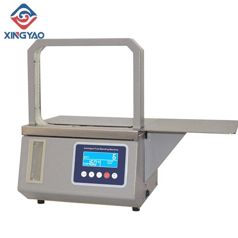 Automatic Hot melt OPP tape Banding Machine Supermarket vegetable Strapping machine Fast binding machine