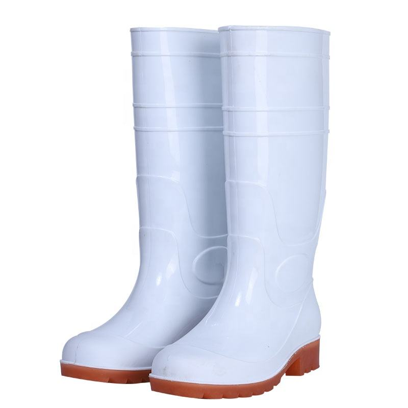 White Cheap High Quality Safety Pvc Rain Boots waterproof Boots Men's Boots