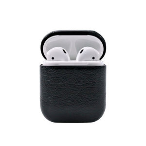 Earphone Accessories With Portable Hook Cover Luxury PU Leather PC Box for AirPods 1 2 Protective Earphone Case