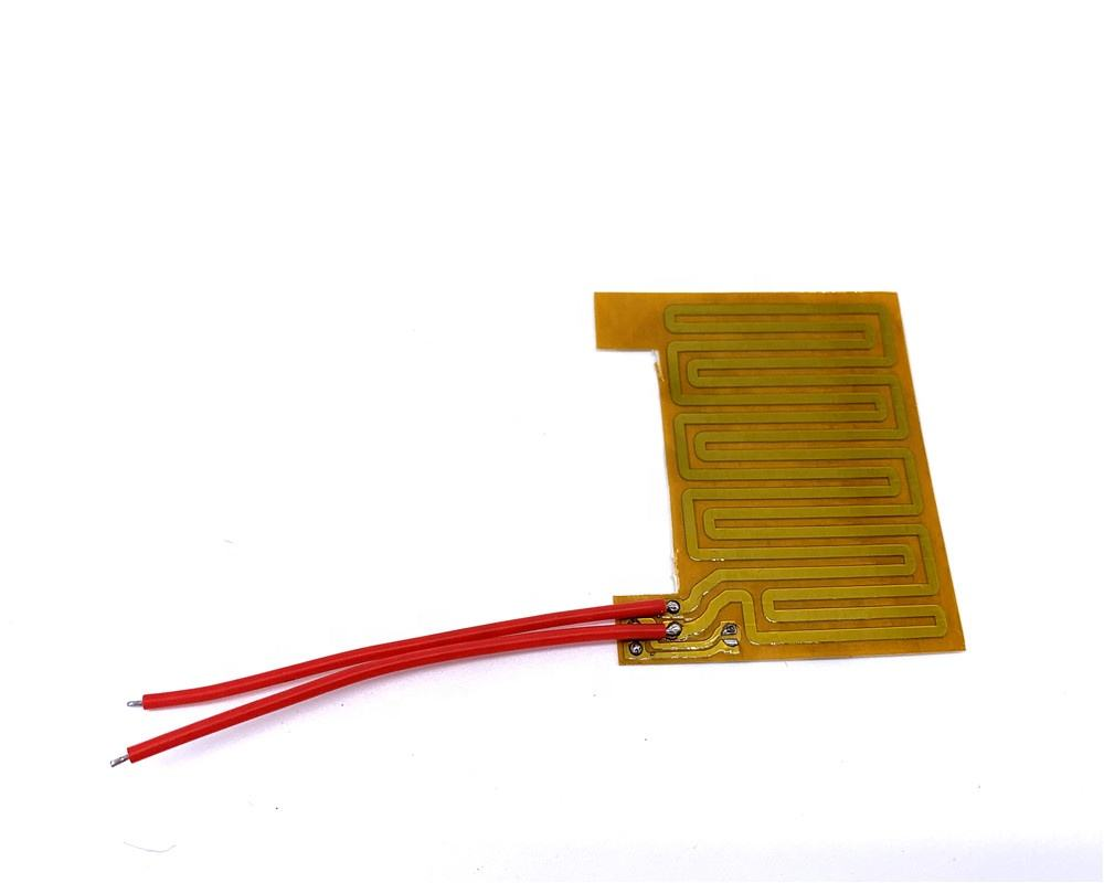ITO film heating element Standard Polyimide Film Etched Foil Heaters with thermistor