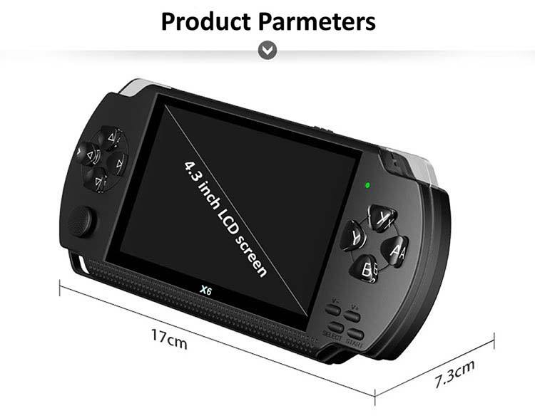 X6 Multi-function 1000 Kinds Switch Button Games Console Player TV Handheld Game Console