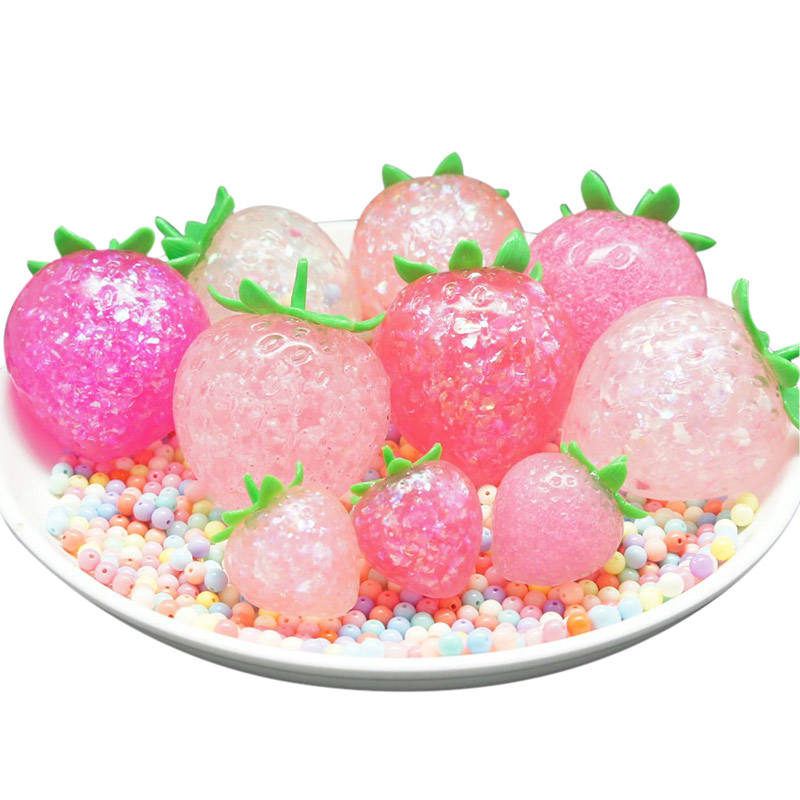 Jumbo Collection Strawberry Scented Squishy Slow Rising Toys Realistic Squishy Strawberry Toys