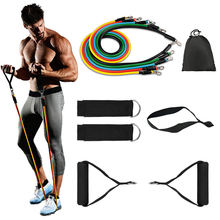 Custom Exercise Sports Elastic Resistance Bands Set Fitness Power Elastic Soft Foam Handles Home Gym Fitness Resistance Bands