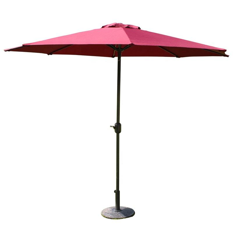 Outdoor Umbrella Hand-Cranking Waterproof Cantilever Garden Beach Restaurant Patio Sun Canvas Parasol Iron Umbrella