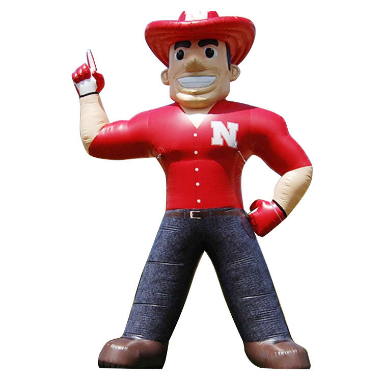 custom giant inflatable cowboy model balloon for advertising promotion