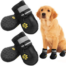 customized hiking snow large big paw shoe silicone pet dog shoes boots