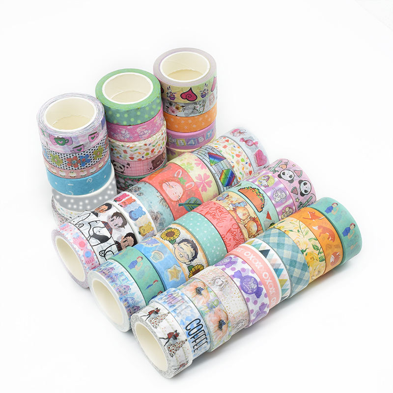 Hot selling product 2019 custom printed gift wrapping washy paper washi tape