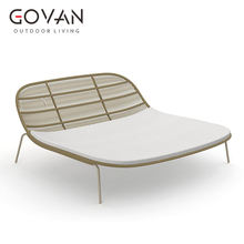 Classical Garden Hotel Pool Patio Balcony furniture brushed aluminum rope woven sun lounger outdoor leisure daybed