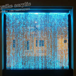 Dancing Acrylic Bubble Water Wall Panel Display Screen Stage