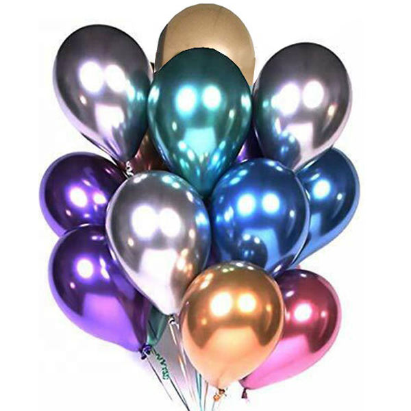 Factory sale Party&wedding high quality Metal balloon colorful peal metallic latex balloons decoration Chrome balloons