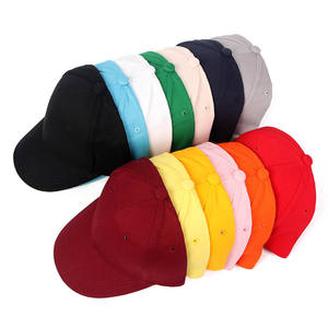 Wholesale Cheap Blank Solid Snapback Hat Cotton Baseball Cap Kids Plain Gorras Children Baby Sport Cap For Boy Girl