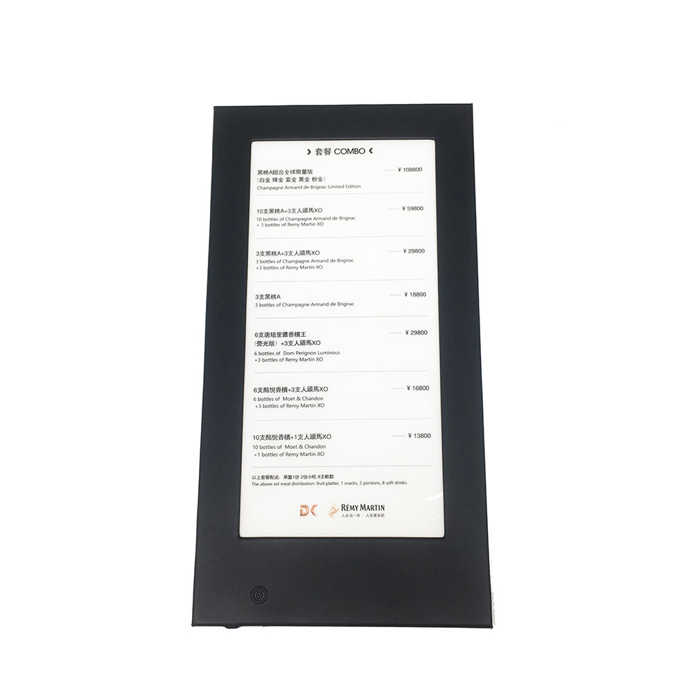 Satu Halaman Diterangi LED Menu Kartu Kulit Pemegang D5511 Light Up Display Menu