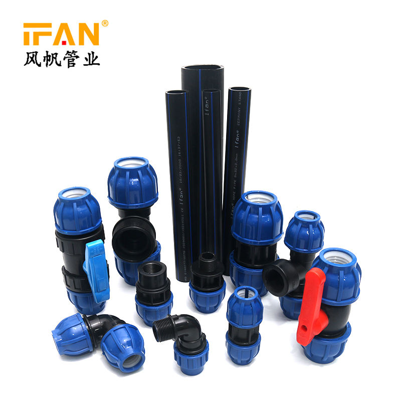black color pipe HDPE PP PE pipe with compressure fittings hdpe pipe pn16 pe100