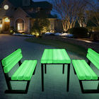 colorful event bench outdoor chair furniture led park outdoor bench