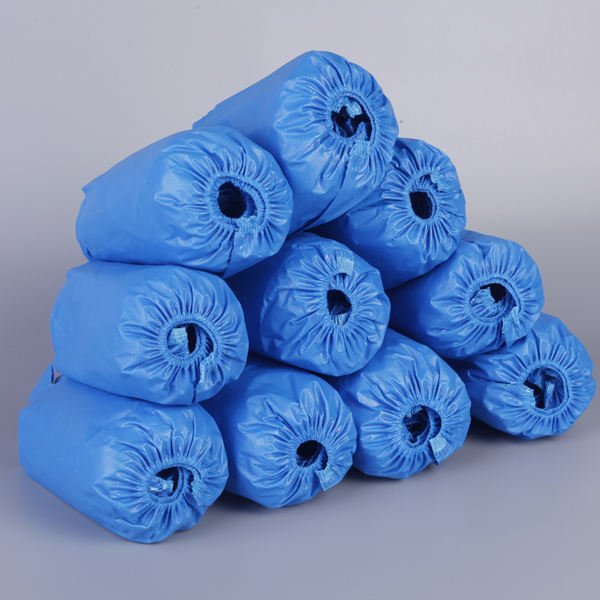 Light Weight Waterproof CPE Blue Shoe Covers