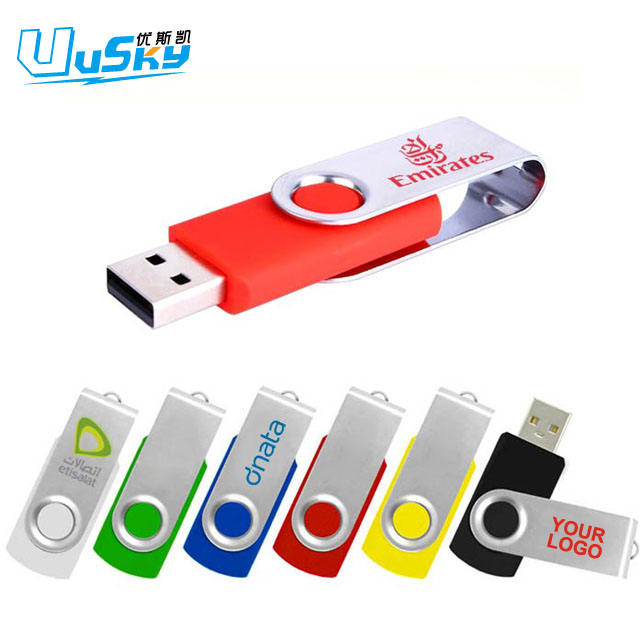 Promotional custom usb 2.0 3.0 64gb 32gb 16gb 8gb 4gb 2gb 1gb custom swivel twister usb flash drive usb memory stick with logo