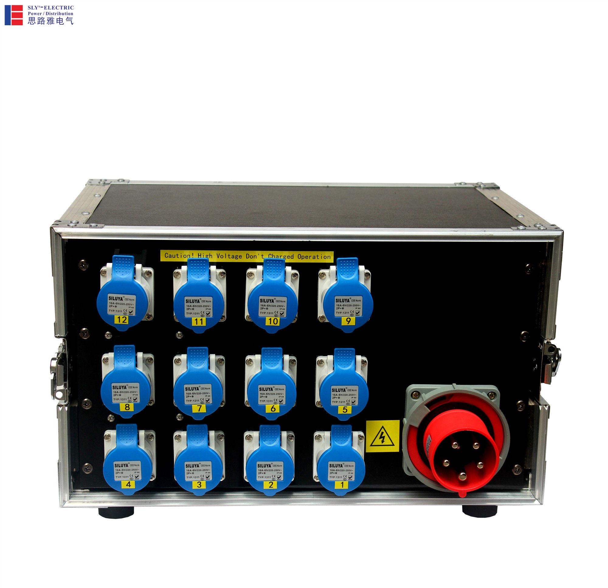 portable stage electrical distribution board with power splitting cable