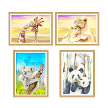 Home Decor Art 30*40cm DIY 5D Full Square/ Round Drill Embroidery Mother&Baby Oil Painting Diamond Painting
