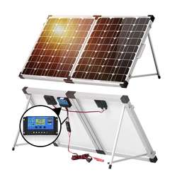 100Watt 12Volt Monocrystalline Foldable Suitcase Off-Grid Solar Power Kit with mppt controller