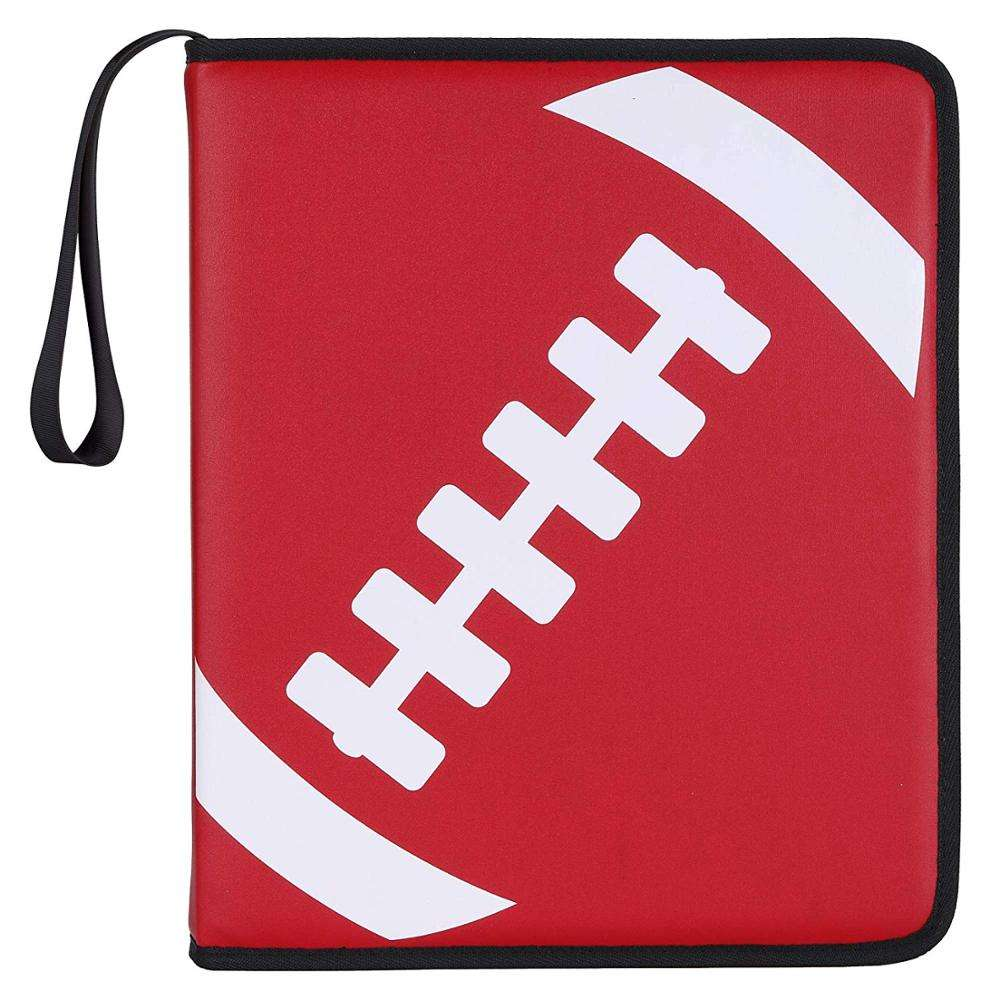 Football Binder Compatible With Trading Cards Sport Cards Collectors Album With 30 Premium 9-Pocket Pages Holds Up To 540 Card