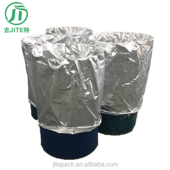 Aluminum foil round-bottomed lining bags for chemical barrels plastic packaging round bottom drum liner Made in China