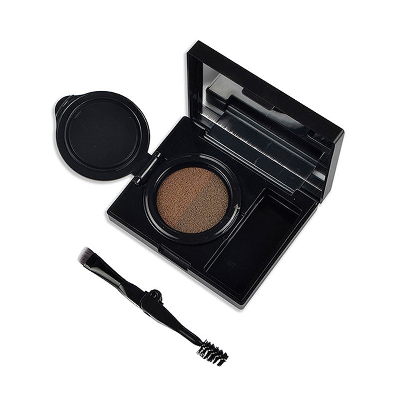 OEM 2 color eyebrow with brush mirror makeup air cushion eyebrow powder palette waterproof