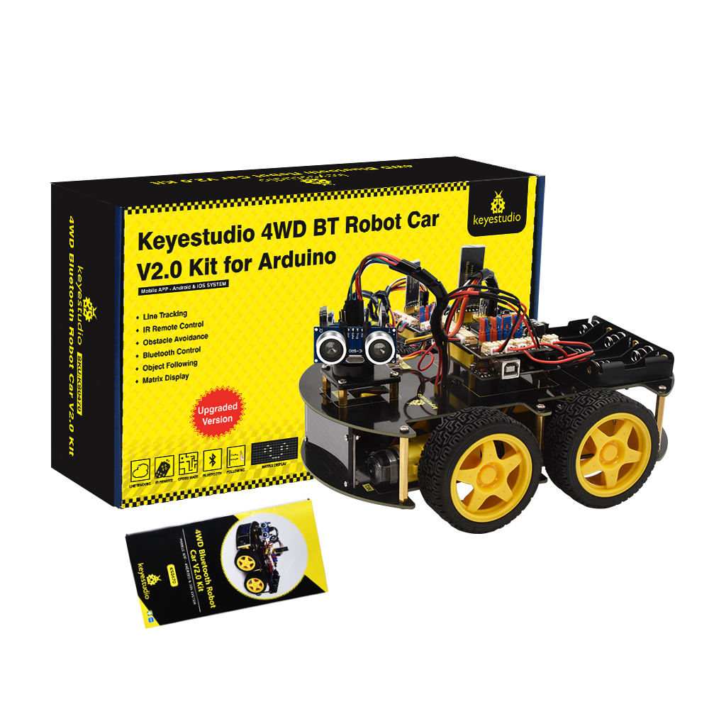 High Quality Stem Educational 4WD multifunctional Bluetooth Robot Car V2.0 Kit for arduino robot programming smart robot car