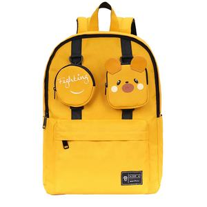 private label yellow mouse ita bag personalizad custom shape print girls buy backpack ita bag