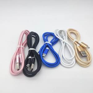 Wholesale Nylon Braided Metal Shell Fast Charging Micro USB Data USB-C Cable for android