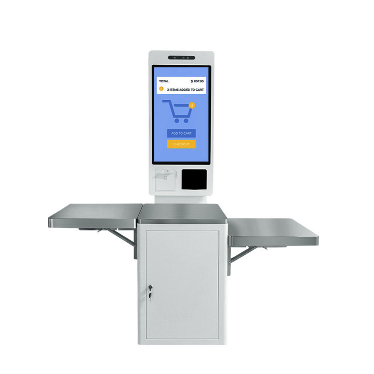 Smart touch screen terminal machine Self check out checkout service payment kiosk for supermarket sale