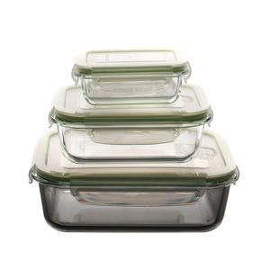 wholesale borosilicate kitchen food glass container storage