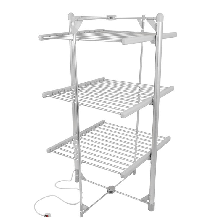 EVIA 300W heated clothes airer 3 tier folding clothes dryer rack household electric clothes drying rack
