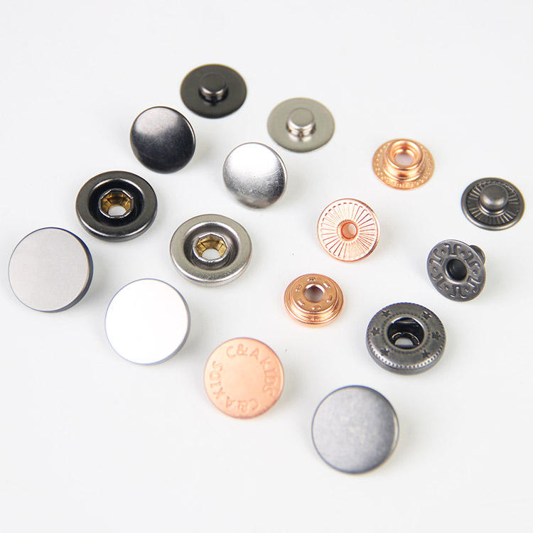 Factory Custom Black Silver Gold Brass Zinc Alloy Snap Press Stud Metal Snap Button For Coat Clothes