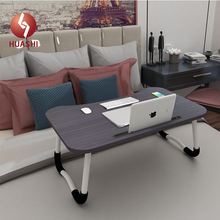 Computer Desk Wooden Folding Laptop Table For Home Office Study Writing Computer Bed Stand