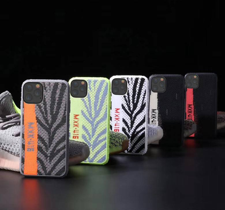 Phone case for iPhone 11/ Pro/ Pro Max, Waterproof/dirt resistant, fabrics pattern and inside bumper design, MC-015