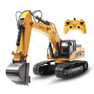 Tongli Alloy Remote Control Excavator 1/14 Skala 23 Channel 1580 Mode Mobil Truk Huina Mainan Diecast Mainan