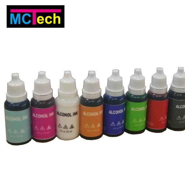 new products alcohol ink with dropper bottle ink for drawing and painting