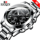 HAIQIN Men Watches Dropshipping High Quality Watch Luxury Style Quartz Movement Stainless Men Watch