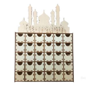 DIY MDF Drawer ramadan advent calendar eid mubarak wood craft ramadan and eid decoration