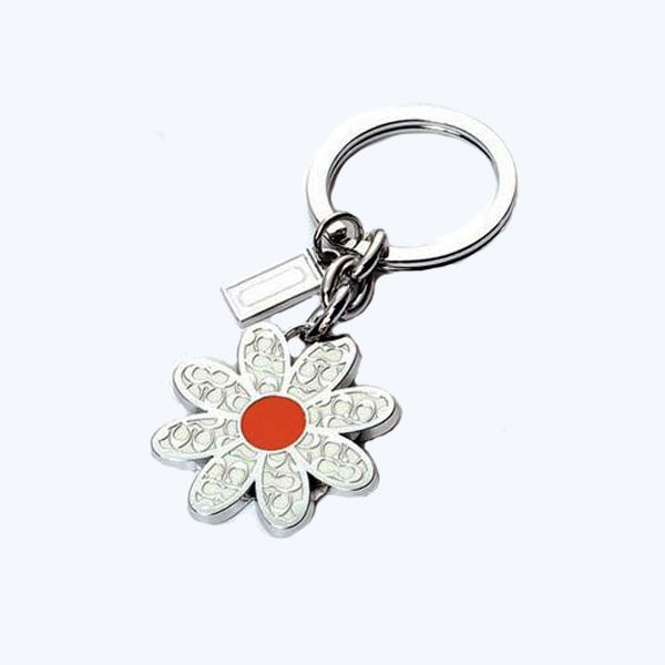 Zinc Alloy Gold Silver Plated Custom Logo Metal Sport Medal Key Ring Chain Keychain