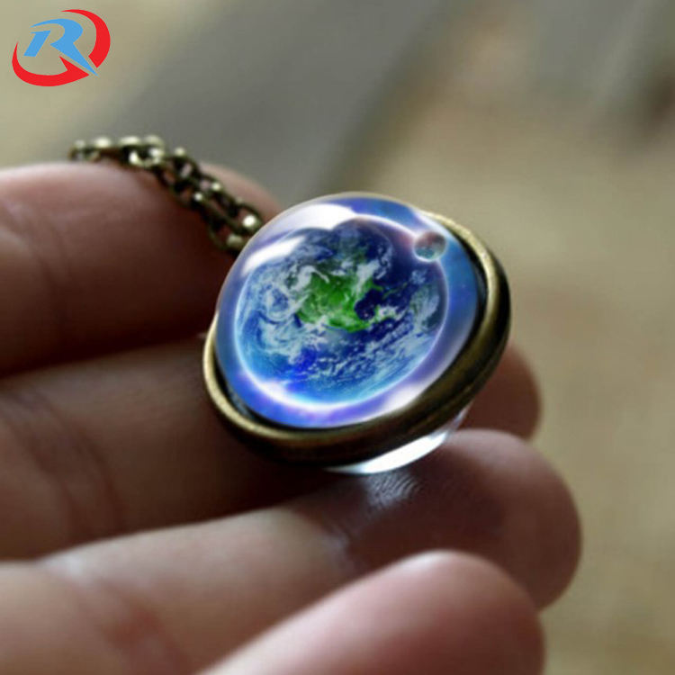 hot selling fashion Christmas gifts solar system series gemstone metal pendant wholesale