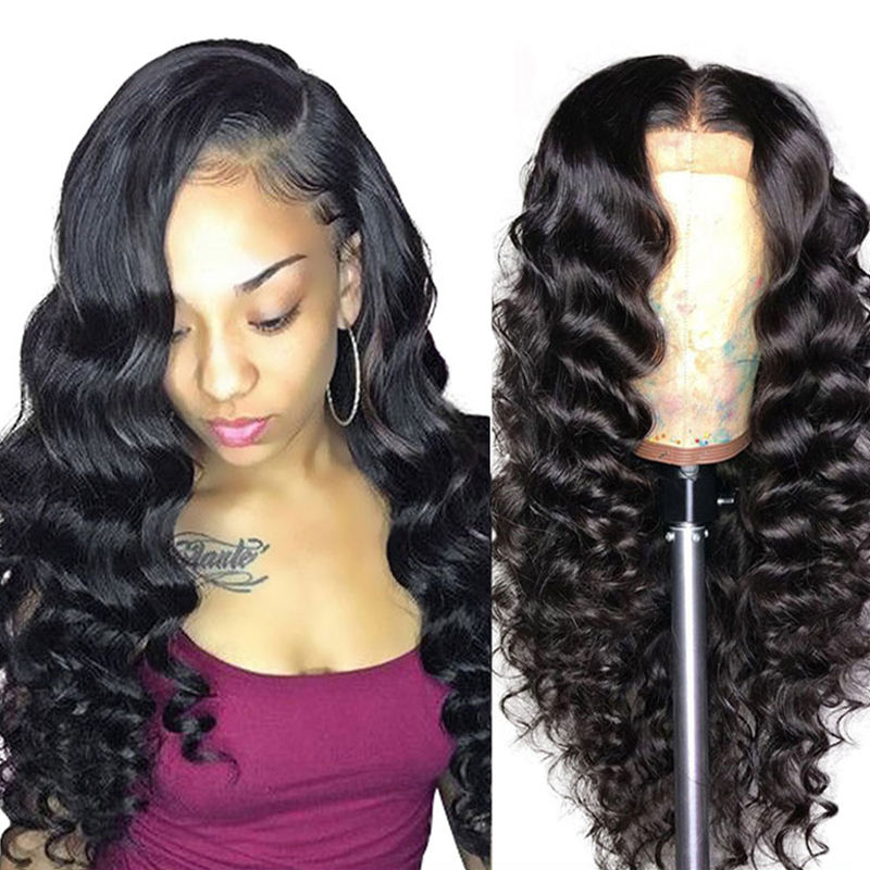 Long [ Wigs Full Lace ] Vast Best Vendor Grade 10A 8-28Inch Loose Deep Wave Raw Virgin Brazilian Unprocessed Human Hair Wigs Full Lace Human Hair Wigs