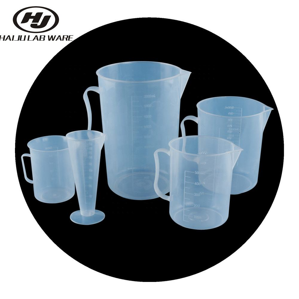 HAIJU LAB Factory Directly Graduated Plastic Measuring Cup/Jug With Handle